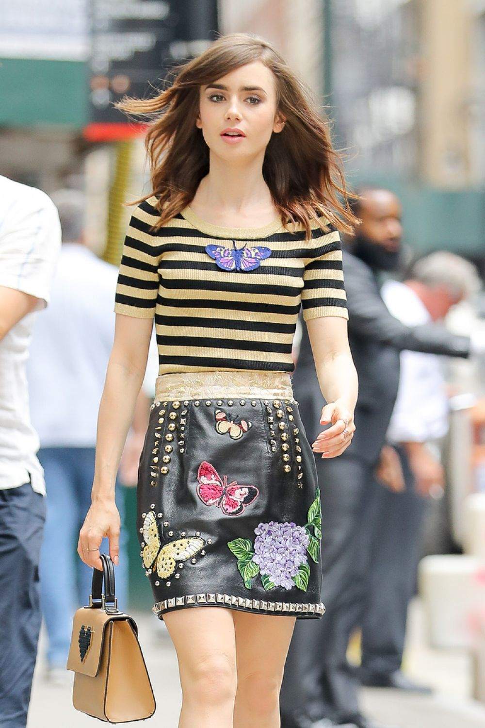 LILY COLLINS Out and About in New York 07/25/2017