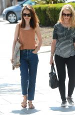 LILY COLLINS Out Shopping in  Los Angeles 07/27/2017