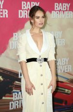 LILY JAMES at Baby Driver Premiere in Sydney 07/12/2017