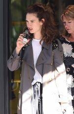 LILY JAMES Leaves Her Hotel in Milan 07/07/2017