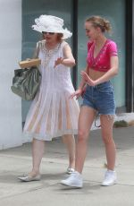LILY-ROSE DEPP Out for Lunch in Los Angeles 07/09/2017