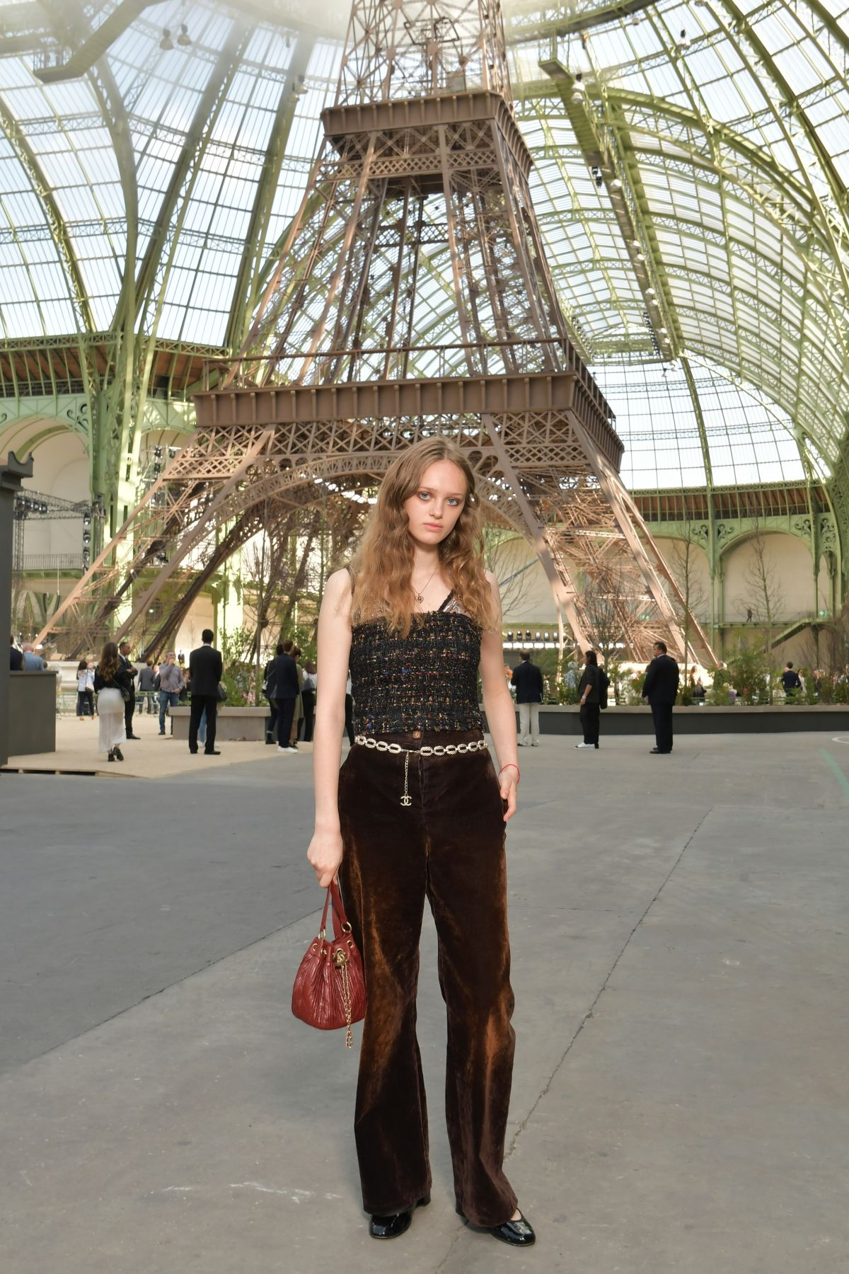 LILY TAIEB at Chanel Fashion Show at Haute Couture Paris Fashion ...