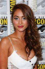 LINDSEY MORGAN at The 100 Press Line at Comic-con International 2017 in San Diego 07/21/2017