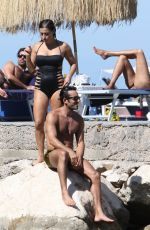 LOLA PONCE on the Beach in Ischia 07/10/2017