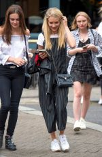 LOTTIE MOSS< EMILY BLACKWELL and FRANKIE GAFF at Goat Restaurant in Chelsea 07/18/2017