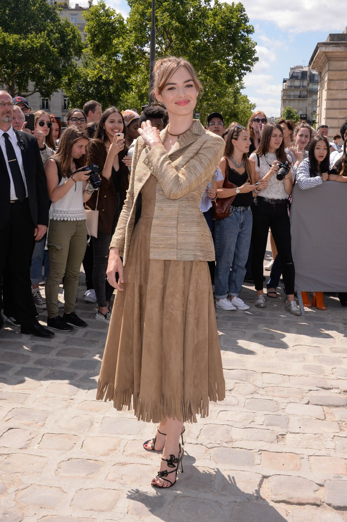 Louise bourgoin at christian dior show at haute couture for Haute couture fashion