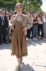 LOUISE BOURGOIN at Christian Dior Show at Haute Couture Fashion Week in Paris 07/03/2017