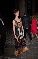LOUISE BOURGOIN at Vogue Party at Paris Fashion Week 07/04/2017