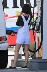 LUCY HALE at a Gas Station in Studio City 07/25/2017