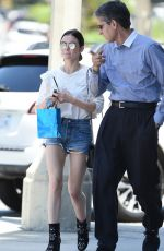 LUCY HALE in Denim Cutoffs Out in Los Angeles 07/07/2017