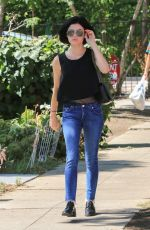 LUCY HALE in Jeans Out in Beverly Hills 07/12/2017