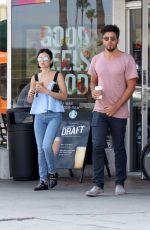 LUCY HALE Leaves Starbucks in Studio City 07/24/2017