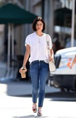 LUCY HALE Out for Coffee in Los Angeles 07/26/2017
