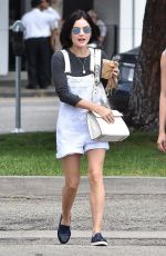 LUCY HALE Out for Lunch at Joan