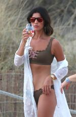 LUCY MECKLENBURGH in Bikini at a Beach in Ibiza 07/21/2017