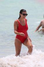 LUDIVINE SAGNA in Swimsuit on the Beach in Miami 07/12/2017