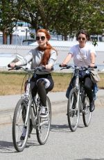 MADELAINE PETSCH and ADELAIDE KANE Out in Stanley Park in Vancouver 07/09/2017