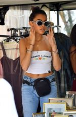 MADISON BEER Shopping at Flea Market in Los Angeles 07/23/2017