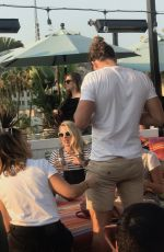 MARGOT ROBBIE with Friends at Mama Shelter Bar in Los Angeles 07/16/2017