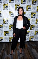 MARIE AVGEROPOULOS at The 100 Press Line at Comic-con in San Diego 07/21/2017