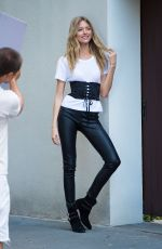 MARTHA HUNT on the Set of a Photoshoot in New York 06/27/2017
