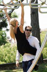 MICHELLE HUNZIKER and Tomaso Trussardi at Park in Bergamo 07/15/2017