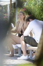 MICHELLE HUNZIKER in Swimsuit at a Pool in Milano Marittima 07/08/2017