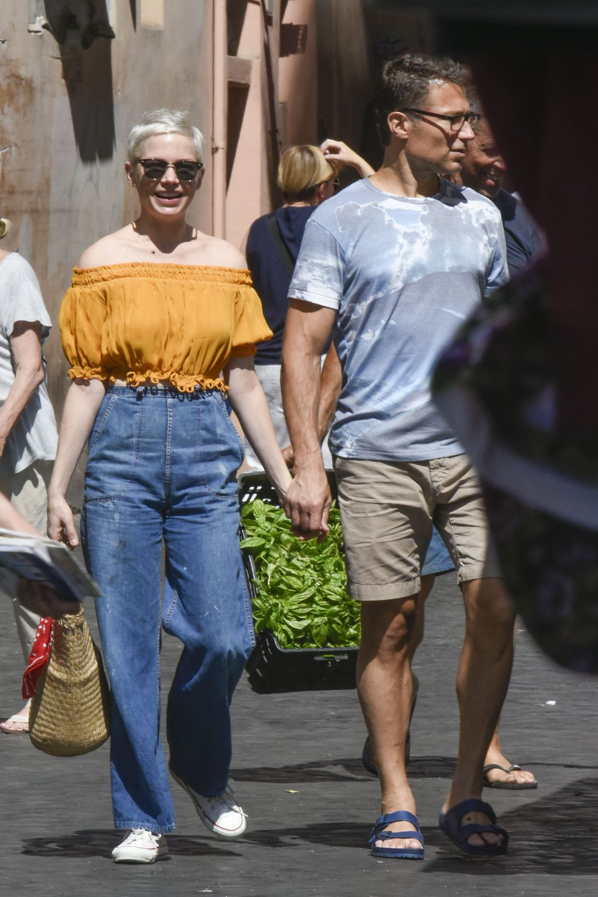 MICHELLE WILLIAMS Out and About in Rome 07/15/2017