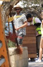 MILEY CYRUS and Liam Hemsworth at Soho House in Malibu 07/09/2017