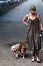 MINKA KELLY at a Dog Park in West Hollywood 07/18/2017
