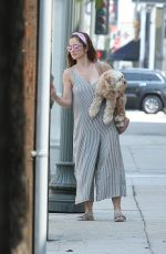 MINKA KELLY Out with Her Dog in La Quinta 07/17/2017