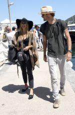 MIRA SORVINO Arrives at Ischia Global Fest in Lacco Ameno 07/09/2017
