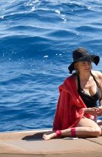 MIRA SORVINO on Vacation in Capri 07/12/2017
