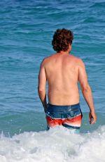 MORGAN BROWN adn Gerrard Butler at a Beach in Tulum 07/01/2017