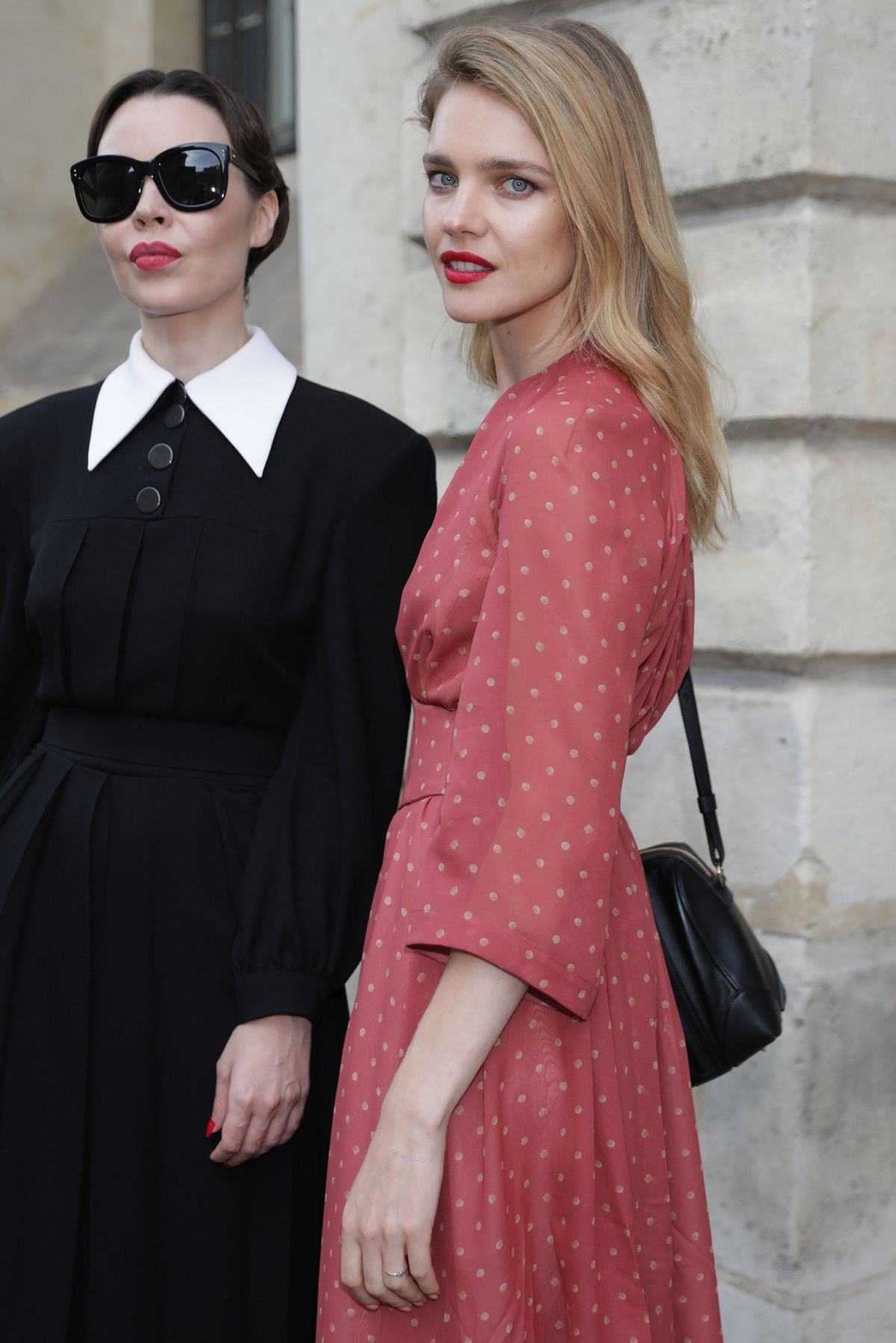 NATALIA VODIANOVA and ULYANA SERGEENKO Leaves Sergeenko
