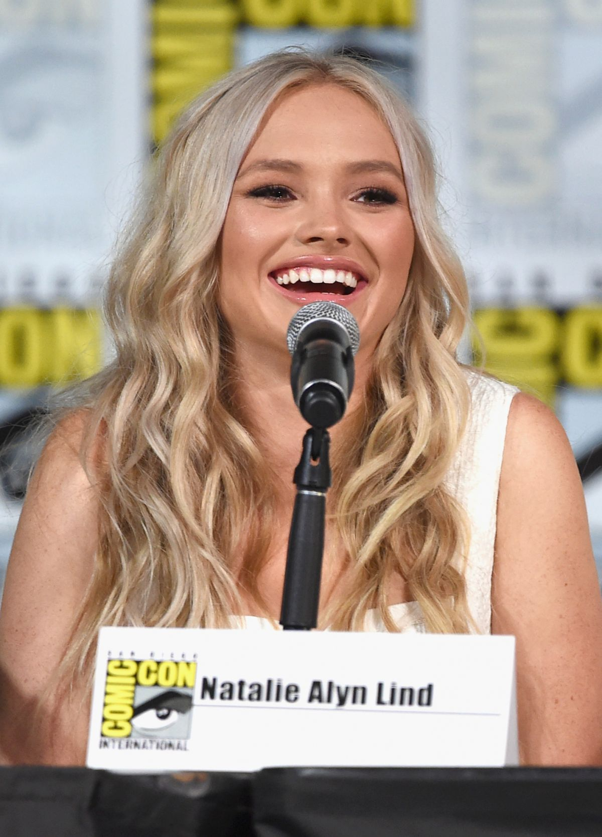 NATALIE ALYN LIND at The Gifted Panel at Comic-con in San Diego 07/21/2017
