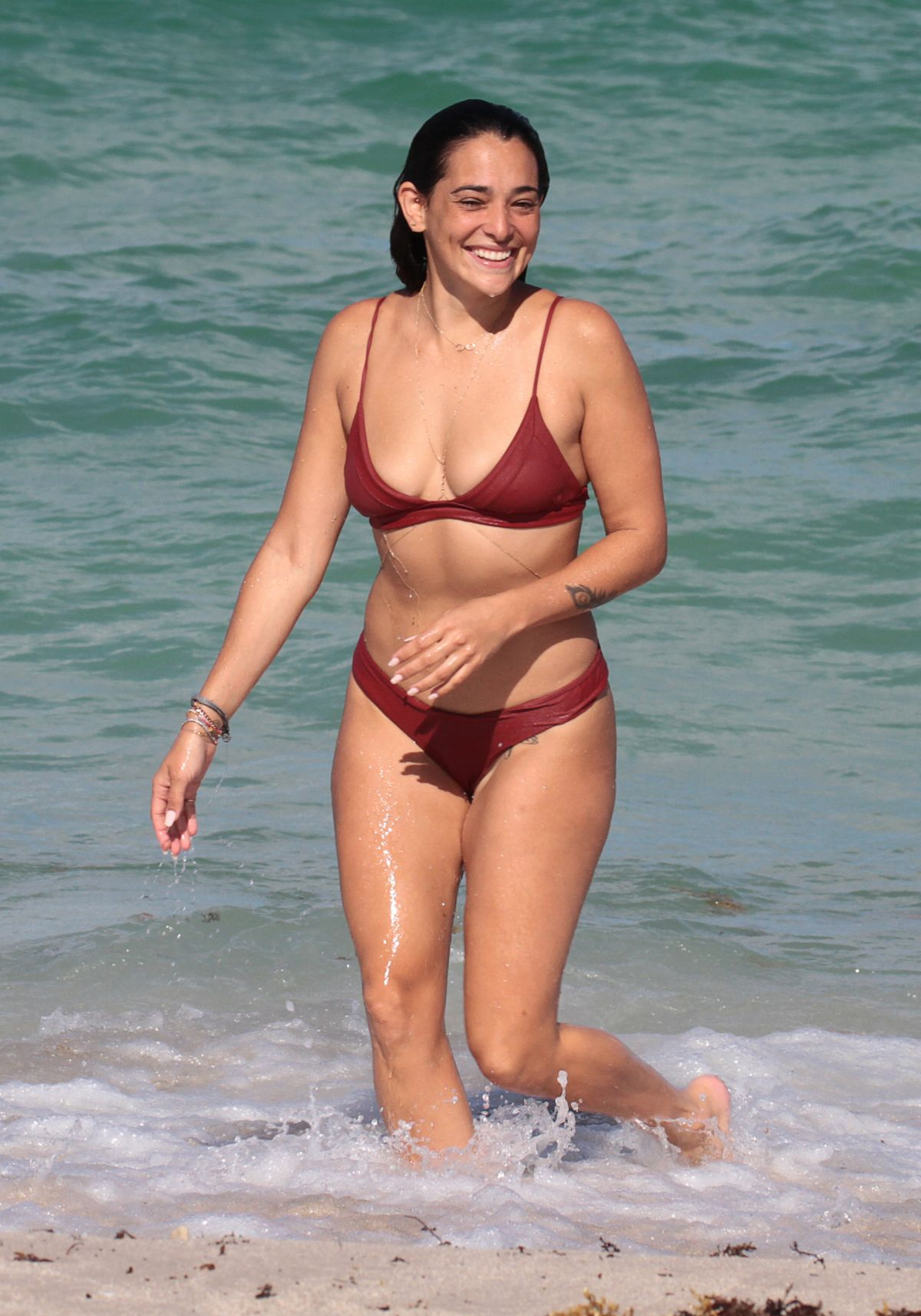 NATALIE MARTINEZ in Bikini at a Beach in Miami 07/08/2017
