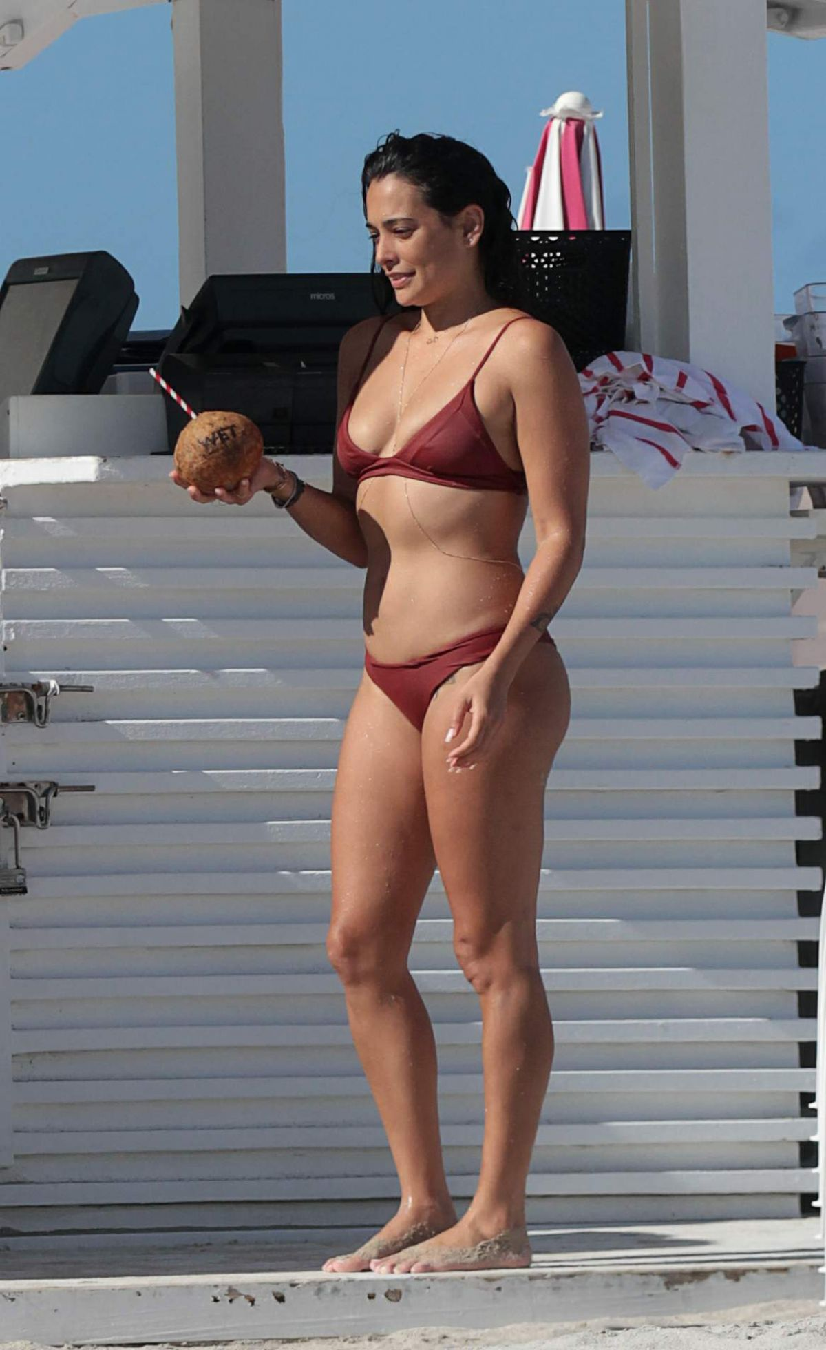 NATALIE MARTINEZ in Bikini on the Beach in Miami 07/05/2017