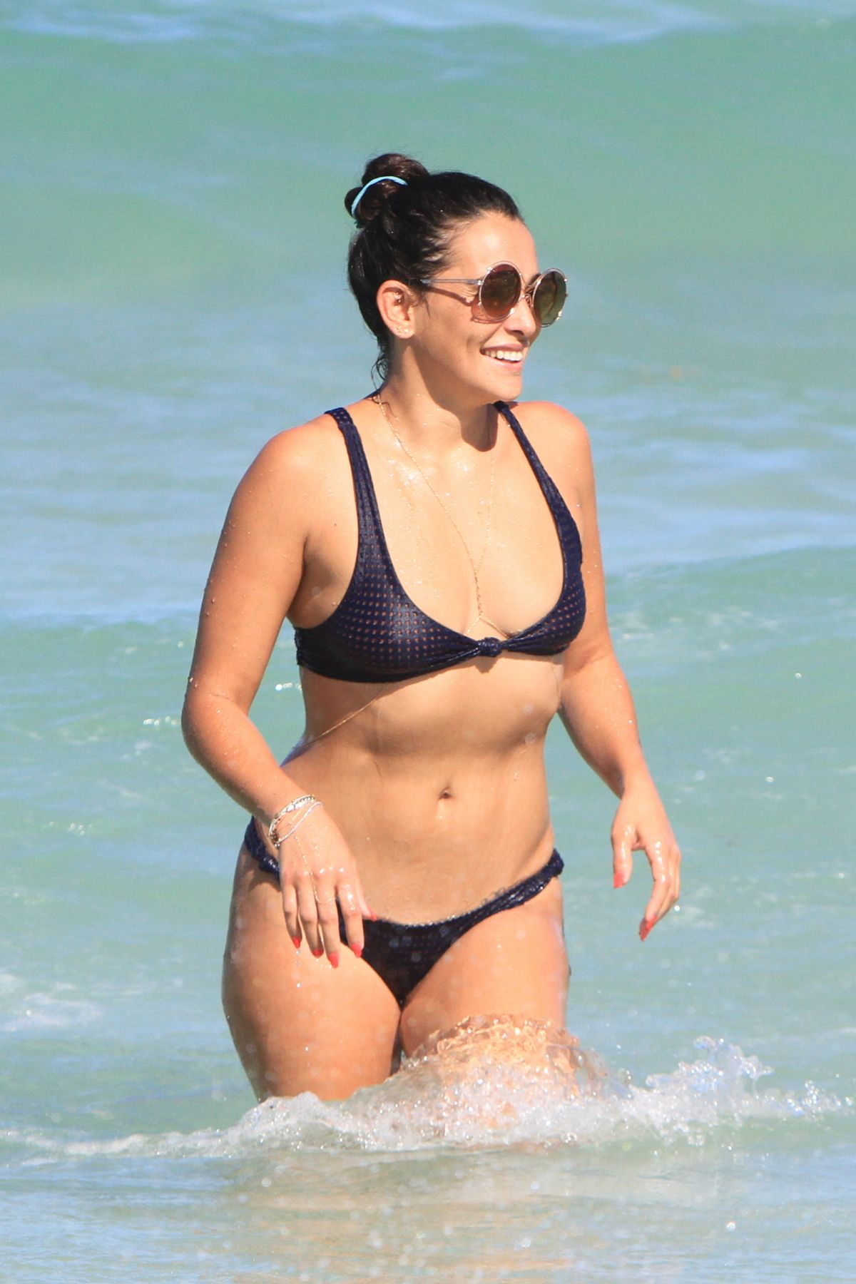 NATALIE MARTINEZ in Bikini on the Beach in Miami 07/14/2017