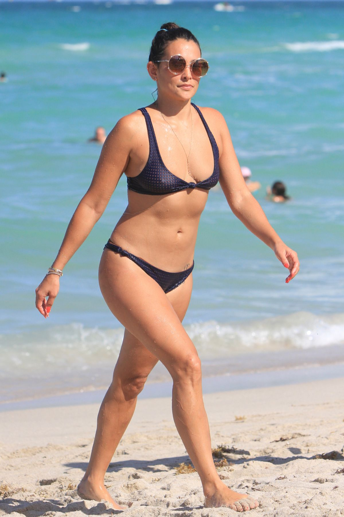 Natalie Martinez In Bikini On The Beach In Miami