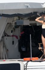 NATASHA POLY in Swimsuit on the Yacht in Saint Tropez 07/26/2017