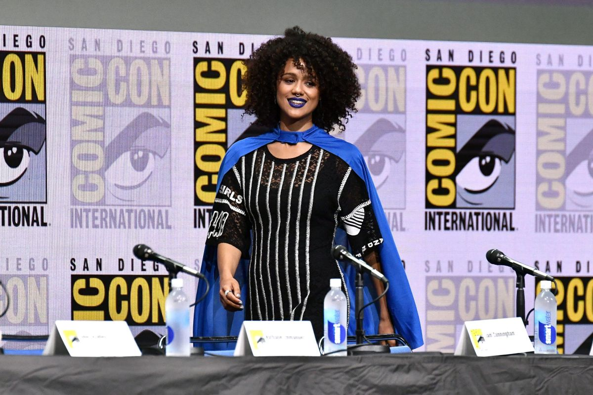 NATHALIE EMMANUEL at Game of Thrones Panel at Comic-con in San Diego 07/21/2017