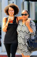 NATHALIE EMMANUEL Out and About in Beverly Hills 07/10/2017