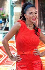 NICOLE SCHERZINGER Arrives at The X Factor Auditions in London 07/06/2017