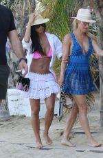 NICOLE SCHERZINGER in Bikini Top at a Beach in Mykonos 07/01/2017