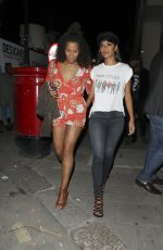 NICOLE SCHERZINGER Leaves Tape Nightclub in London 07/26/2017