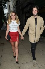 NIKKI SANDERSON  and Greg Whitehust Night Out in Manchester 06/29/2017