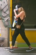 NINA AGDAL in Tights Out and About in New York 06/29/2017