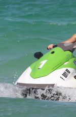 NOAH CYRUS and Justin Mahone Riding a Jet Ski in Miami 07/15/2017