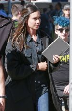 ODETTE ANNABLE on the Set of Supergirl in Vancouver 07/16/2017